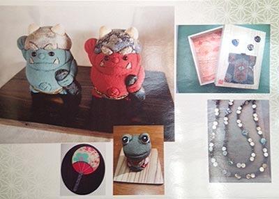 和小物・皐月の作品展(手作りアクセサリーと共に) …和泉貞子 太田夫美恵